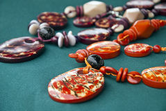 Jewelry - Tagua Nut Necklaces Royalty Free Stock Photo