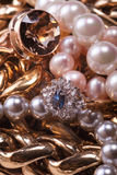 Jewelry treasure Stock Photos