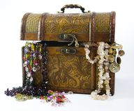 Jewelry trunk Stock Images