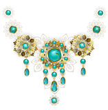 Jewelry with turquoise Stock Photography