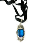Jewelry with ultramarine glass Stock Images