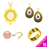 Jewelry vector Royalty Free Stock Photo