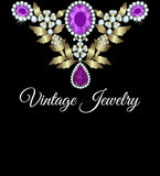 Jewelry vintage card Stock Image