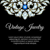 Jewelry vintage card Stock Image