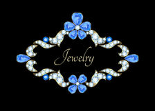 Jewelry vintage card Stock Images