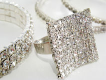 Jewelry on white Stock Images