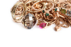 Jewelry On White Royalty Free Stock Photo