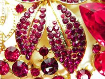 Free Jewelry With Bright Crystals Brooch Luxury Fashion Stock Photos - 106097263