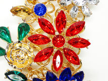 Free Jewelry With Bright Crystals Brooch Luxury Fashion Stock Image - 87666481