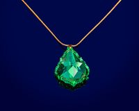 Jewelry With Green Sapphire Stock Images
