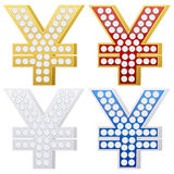 Jewelry yen symbol Stock Images