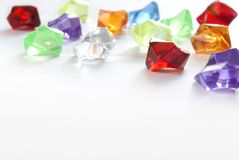 Jewels are. Isolated on a white background Royalty Free Stock Image