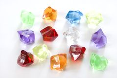 Jewels. Are isolated on a white background Royalty Free Stock Photos