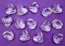 Jewels Against Purple Stock Photo