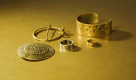 Jewels with ancient Slavic designs Royalty Free Stock Photography