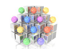 Jewels arranged in display stand Royalty Free Stock Image