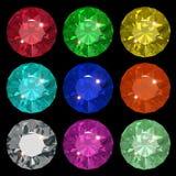 Jewels. Beauty jewel set vector illustration clip art Stock Image