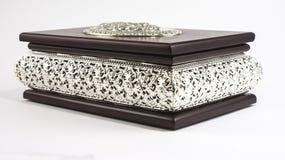 Jewels box. Brown jewels box metal detail Stock Image