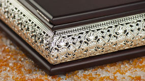 Jewels box detail. Brown jewels box metal detail Stock Image