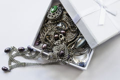 Jewels in a box Stock Image
