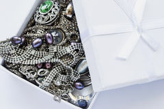 Jewels in a box Royalty Free Stock Photography