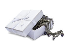 Jewels in a box Stock Photo