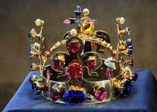 Jewels Crown. Crown of Saint Wenceslas in Prague, Czech Republic stock photography