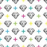 Jewels le modèle sans couture avec des croix Photo stock