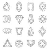 Jewels Line Icons Set Royalty Free Stock Photography