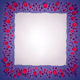 Jewels and paper sheet frame Stock Photography