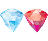 Jewels. sapphire. ruby. Vector illustration Stock Image