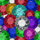 Jewels tecsture.Seamles. Jewels. Seamless texture. Vector illustration. Clip art Stock Photo