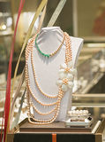 JEWERIES IN SALE. PEARL NECKLACE AND BRACELET ARE IN SALE IN A SHOPPING MALL, CHINA Stock Photos