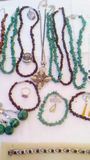 Jewerly. Many jewerly for women in bazar royalty free stock photography
