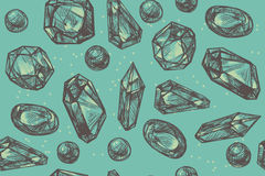 Jewerly, pattern Royalty Free Stock Images