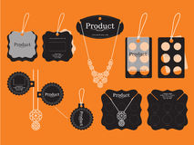 Jewerly Tags Design. Vector and Illustration Royalty Free Stock Image