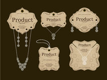 Jewerly Tags Design. Vector and Illustration Royalty Free Stock Photography