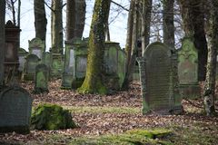 Jewich cemetery graveyard Royalty Free Stock Image