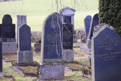 Jewish cemetery graveyard Stock Photo