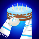 Jewish bar mitzvah  illustration. Royalty Free Stock Images