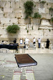 Jewish bible on table Stock Image