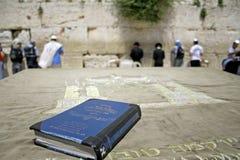 Jewish bible on table Stock Photos