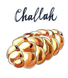 Jewish braided challah. (loaf) - Illustration Royalty Free Stock Images
