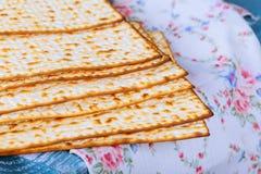 Jewish bread matza on wood Royalty Free Stock Photography