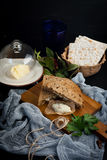 Jewish breakfast with herring pate Stock Photography
