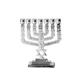 Jewish candlesticks-menorah Stock Images