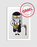 Jewish cartoon person postal stamp Stock Photo
