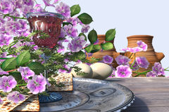 Jewish celebrate pesach passover background Royalty Free Stock Photos