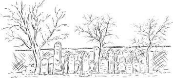 Jewish cementary Stock Photo