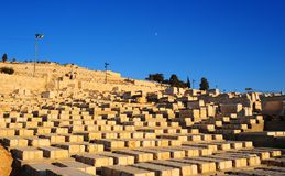 Jewish Cemetery. Ancient Jewish Cemetery On The Olive Mountain In Jerusalem Stock Image